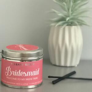 La de da! Living Sassy Wax Bridesmaid - Welcome to my Bride Tribe Candle 300g