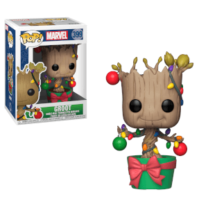 Marvel Holiday - Figura Pop! Vinyl Groot con Lucette e Addobbi