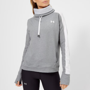 Under Armour Women's Featherweight Fleece Funnel Neck Sweatshirt - Steel Medium Heather