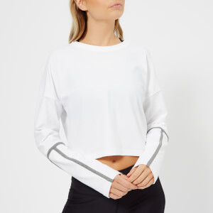 Under Armour Women's Lighter Longer Cropped Crew Neck Top - White