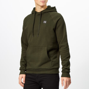 Under Armour Men's Rival Fleece Pull Over Hoodie - Artillery Green