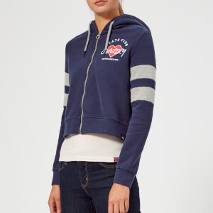 Superdry Women's Splice Colour Zip Hoody - Hurricane Navy/Heelflip Grey Marl
