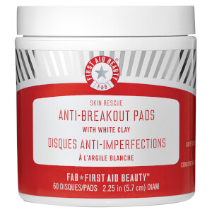 First Aid Beauty Skin Rescue Anti-Breakout Pads with White Clay płatki do twarzy