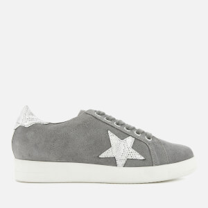Dune Women's Edris Suede Low Top Trainers - Grey