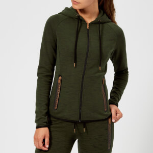 Superdry Sport Women's Gym Tech Luxe Zip Hoody - Khaki/Black