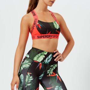 Superdry Sport Women's Colourblock Bra - Tara Tropical/Hot Coral