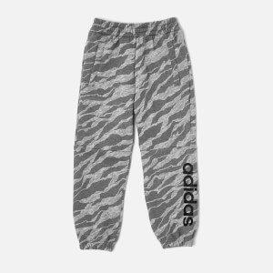 adidas Boys Linear Pants - Medium Grey Heather
