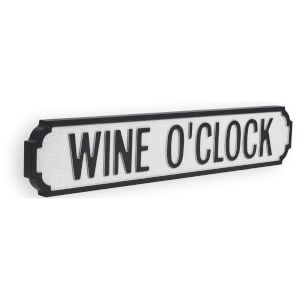 Shh Interiors Wine O'Clock Vintage Street Sign