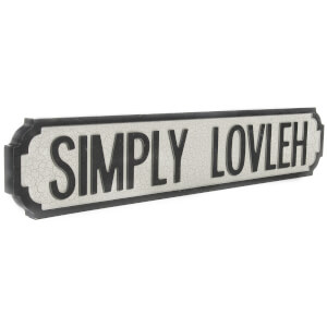 Shh Interiors Simply Lovleh Vintage Street Sign