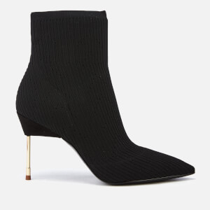 Kurt Geiger London Women's Barbican Stretch Heeled Ankle Boots - Black