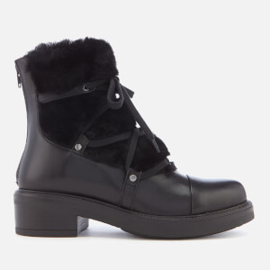 Carvela Women's Sharp Leather Hiker Style Boots - Black