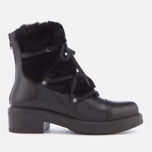 9f6826cc144 Carvela Women s Sharp Leather Hiker Style Boots - Black