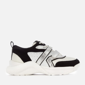 Kurt Geiger London Women's Lex Leather Chunky Runner Style Trainers - Black/White