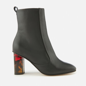 Kurt Geiger London Women's Stride 90 Leather Heeled Boots - Black