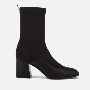 Armani Exchange Women's Heeled Sock Boots - Black