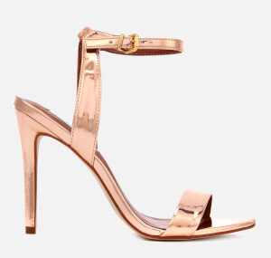 Steve Madden Women's Landen Barely There Heeled Sandals - Rose Gold