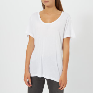 T by Alexander Wang Women's Drapey Jersey T-Shirt with T Darting Detail - Off White