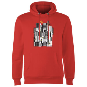Sweat à Capuche Homme Les Indestructibles 2 Skyline - Rouge
