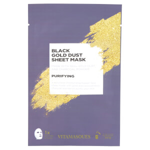 Vitamasques Gold Dusk Sheet Mask - Black