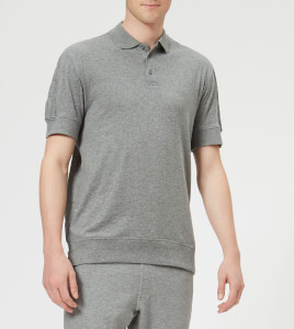 Armani Exchange Men's Quilted Polo Shirt - Grey