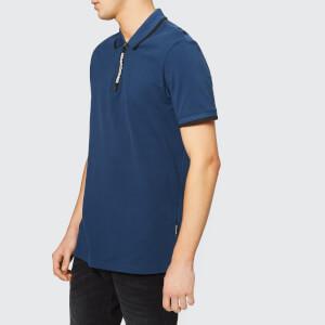 Armani Exchange Men's Tape Zip Polo Shirt - Petrol