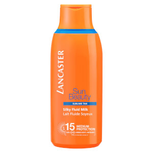 Leite com FPS 15 Sun Beauty Silky Fluid da Lancaster 175 ml