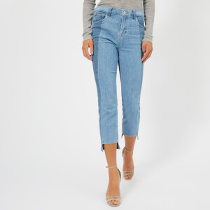 J Brand Women's Ruby High Rise Crop Jeans with Panel Detail - Genesis