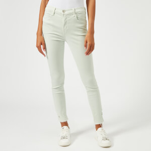 J Brand Women's Alana High Rise Skinny Cropped Jeans - Spearmint Destruct