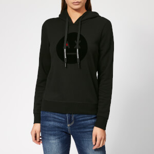 Armani Exchange Women's Emoji Logo Hoodie - Black