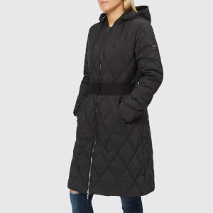 Armani Exchange Women's Long Quilted Down Coat - Black