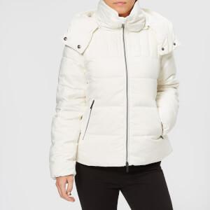 Armani Exchange Women's Down Short Jacket with Hood - Martini