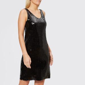 Armani Exchange Women's Sequin Sleeveless Dress - Black