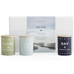 SKANDINAVISK Scented Mini Candle Gift Set - Natur