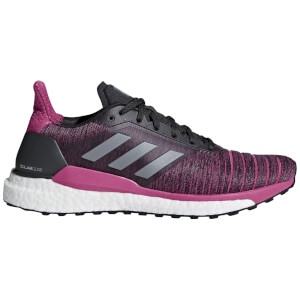 adidas Women's Solar Glide Running Shoes - Grey/Magenta