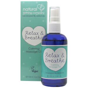 Natural Birthing Company Relax and Breathe olio per massaggi 100 ml