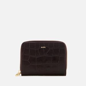 A.P.C. Women's Emmanuelle Compact Wallet - Burgundy