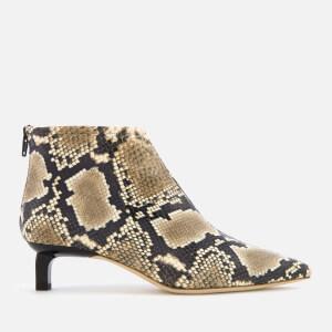 Rejina Pyo Women's Marta Boots - Snake Beige Upper/Black Heel