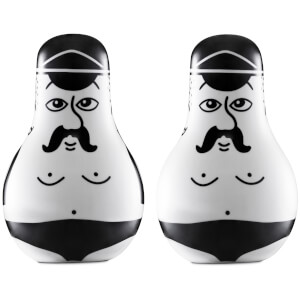 Normann Copenhagen Friends Salt and Pepper Set - Black/White