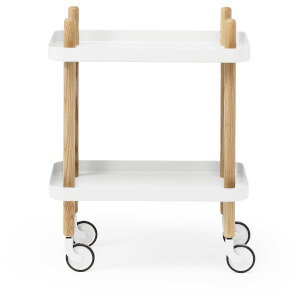 Normann Copenhagen Block Table Trolley - White