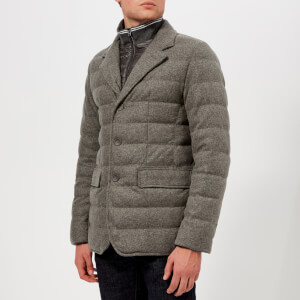 Herno Men's Wool Padded Blazer - Grey