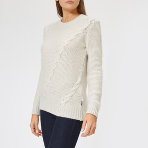 Barbour Heritage Women's Kate Placement Cable Jumper - Ecru