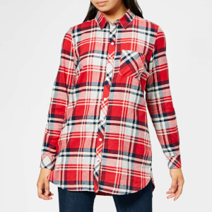 Barbour Women's Bressay Shirt - Grey/Chilli Red