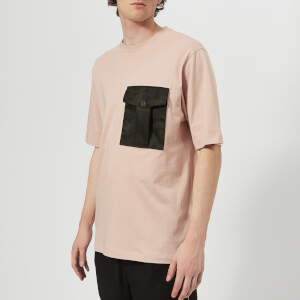 Helmut Lang Men's Camo Pocket T-Shirt - Rosewood