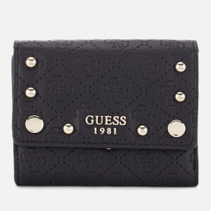 Guess Women's Coast to Coast Trifold Wallet - Black