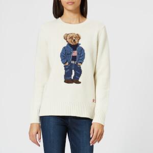 Polo Ralph Lauren Women's Bear Jumper - White