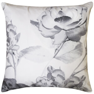 Karl Lagerfeld Senna Floral Pillowcase Pair - Grey