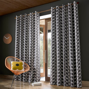 Orla Kiely Linear Stem Curtains - Charcoal