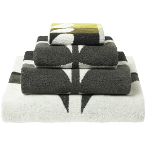 Orla Kiely Large Stem Towels - Duckegg
