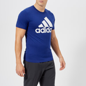 adidas Men's Essential Linear Short Sleeve T-Shirt - Mystery Ink