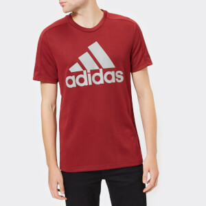 adidas Men's I.D Stadium Short Sleeve T-Shirt - Noble Maroon